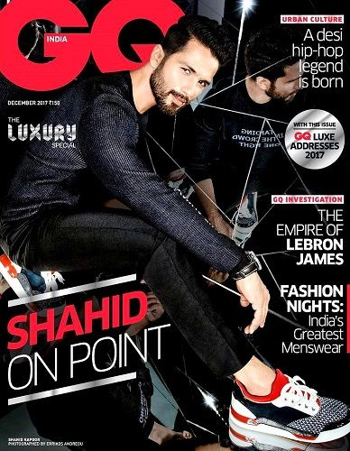 Shahid Kapoor on cover of GQ India magazine