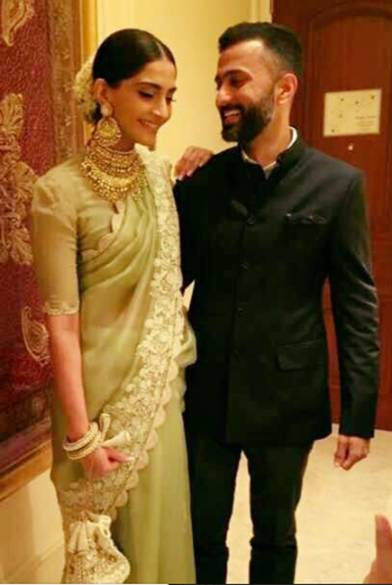 Sonam Kapoor With Anand Ahuja At Their Engagement Ceremony