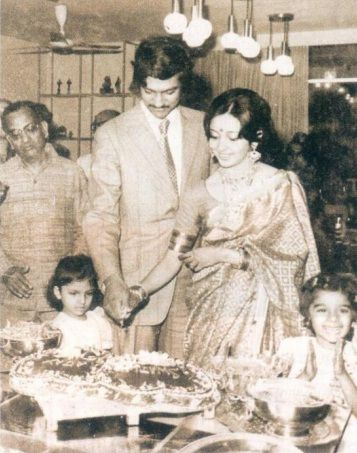 Swati Piramal with Ajay Piramal in 1980s