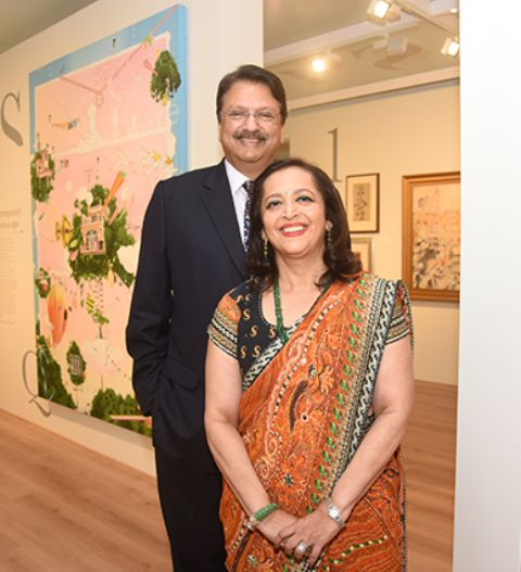 Swati Piramal with Ajay Piramal
