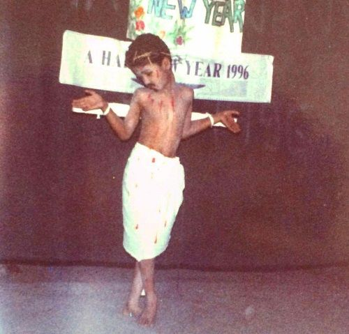 Vicky Kaushal (Childhood) at school function