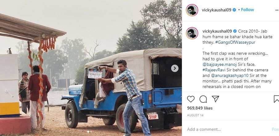 Vicky Kaushal during the shoot of Gangs of Wasseypur