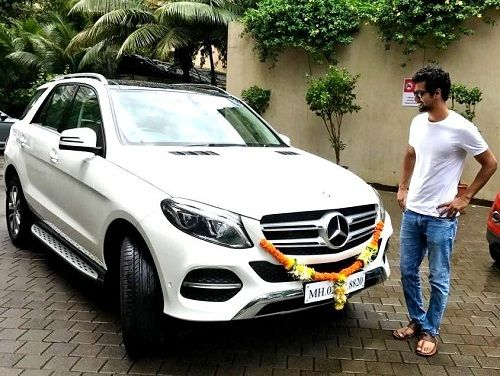 Vicky Kaushal with his Mercedes Benz GLC SUV car