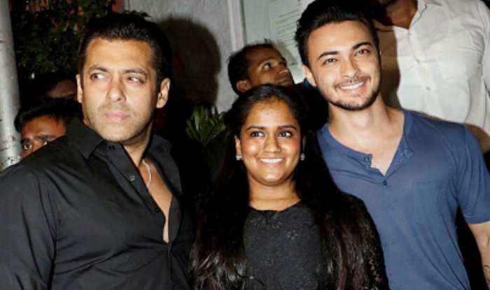 Aayush Sharma With Arpita Sharma And Salman Khan