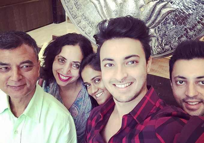 Aayush Sharma With His Family