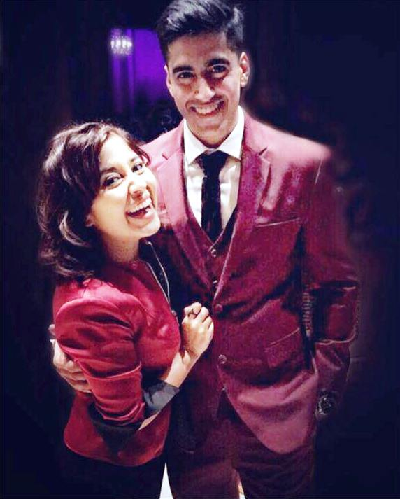 Chaitanya Sharma with his wife Shweta Tripathi