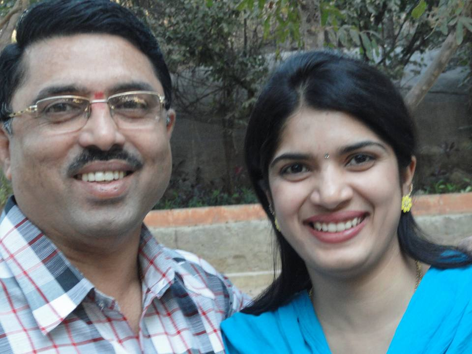 Deepti Nallamothu with her husband