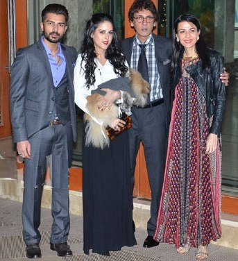 Kumar Gaurav With His Wife Namrata Dutt, Daugther Saachi And Son-In-Law Bilal Amrohi