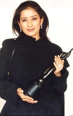Manisha Koirala Holding Critics' Best Actress Award