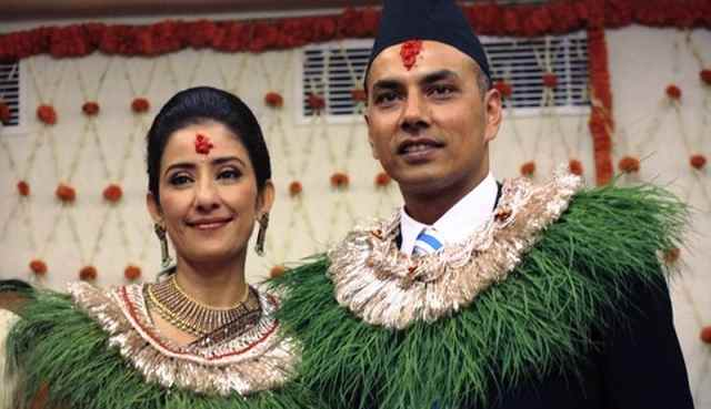 Manisha Koirala With Her Husband Samrat Dahal