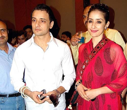 Manisha Koirala With Her Brother Siddharth Koirala