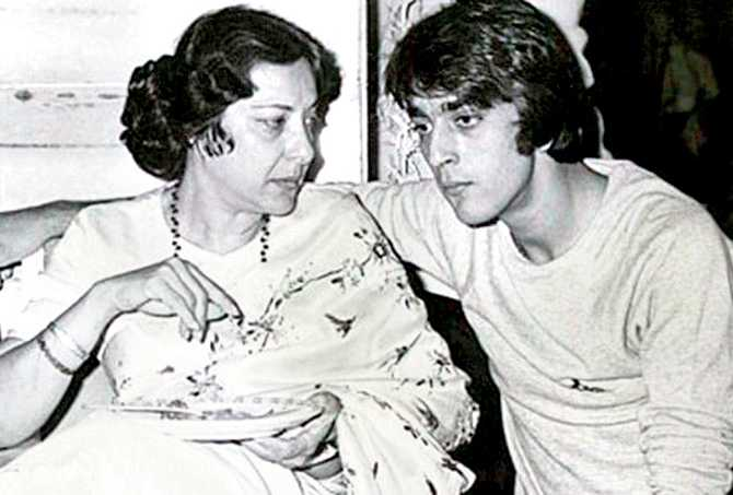Nargis With Her Son Sanjay Dutt