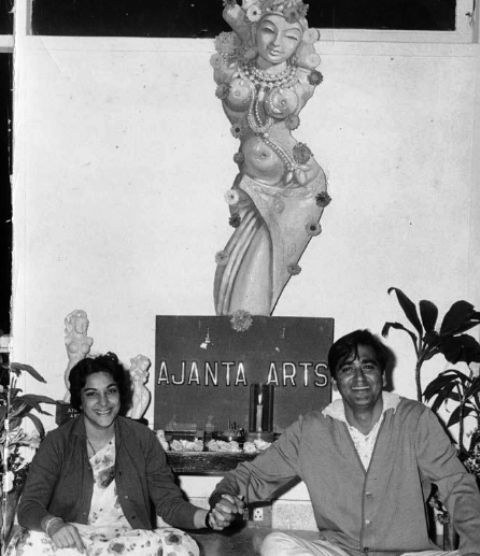 Nargis With Sunil Dutt- Ajanta Arts