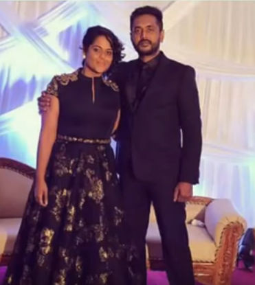 Ramya Nsk with her husband