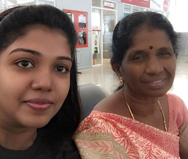 Riythvika with her mother