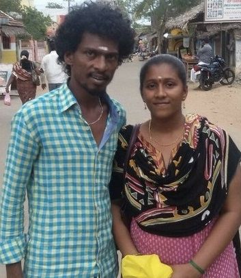 Sendrayan with his wife
