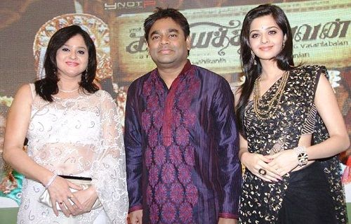 Vedhika Kumar With Her Mother And A R Rahman