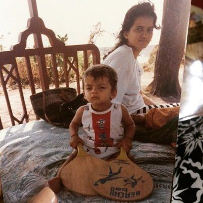 Zaheer Iqbal's childhood picture with his mother