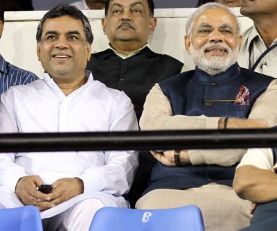Paresh Rawal With Indian Prime Minister Narendra Modi
