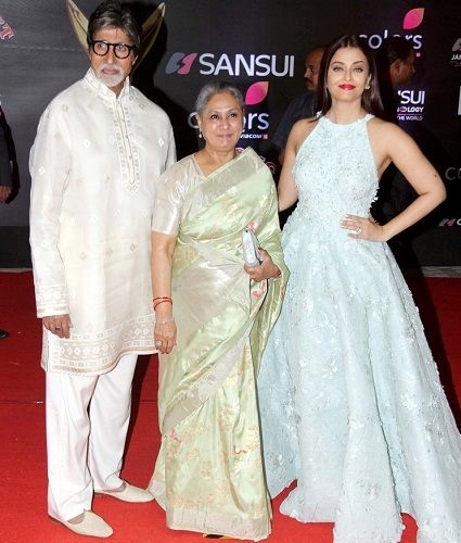 Aishwarya Rai Bachchan with her parents-in-law