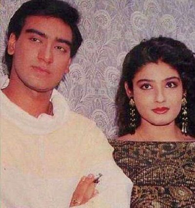 Ajay Devgn with Raveena Tandon