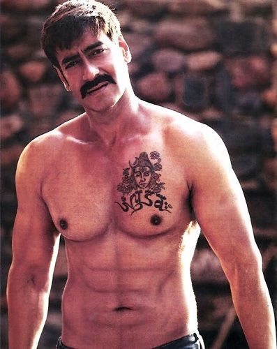 Ajay Devgn's Lord Shiva tattoo