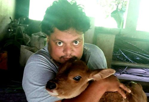 Anoop Chandran loves animals