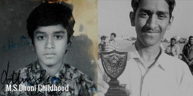 Childhood photos of Mahendra Singh Dhoni