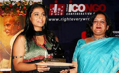 Kajol received Karmaveer Puraskaar