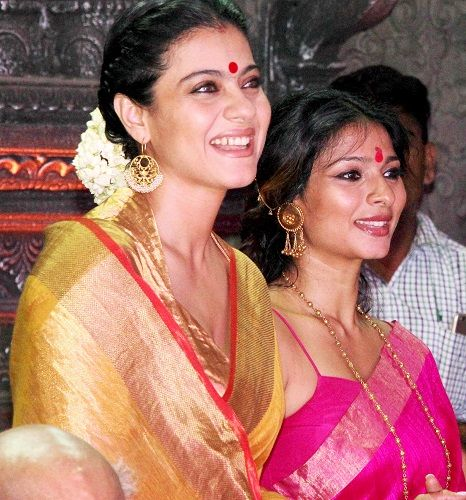 Kajol with her sister Tanisha Mukerji