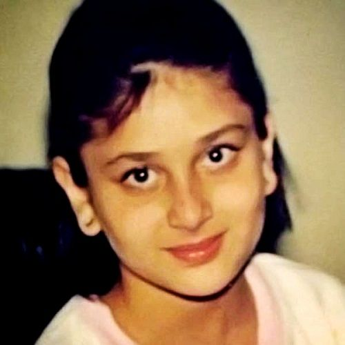 Kareena Kapoor childhood pic