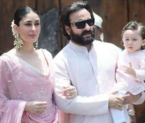 Kareena Kapoor with her husband Saif Ali Khan and son Taimur Ali Khan Pataudi
