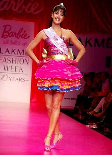 Katrina Kaif dressed up as Barbie Doll