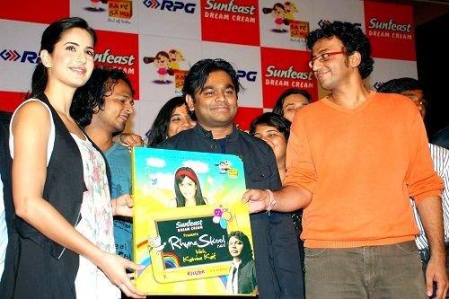 Katrina Kaif during the launch of 'Rhyme Skool' music CD