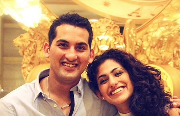 Kubbra Sait and her brother
