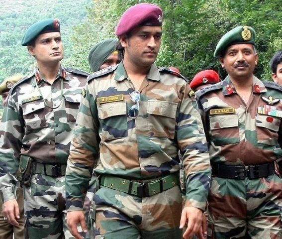 M S Dhoni as an Army Officer