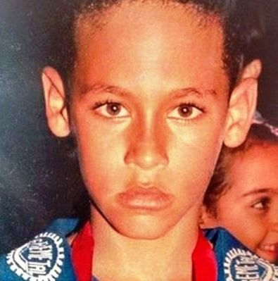 Neymar childhood photo