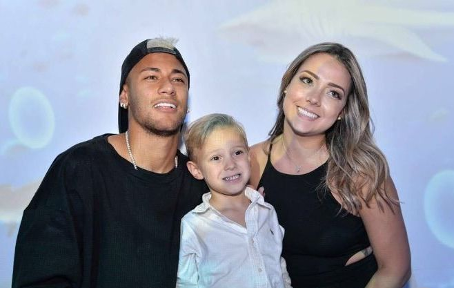 Neymar with Carolina Dantes and their son David Lucca