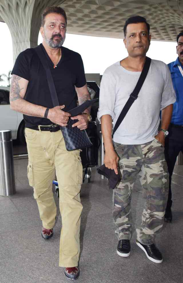 Paresh Ghelani and Sanjay Dutt