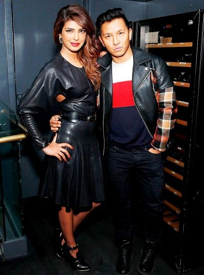 Priyanka Chopra with Prabal Gurung
