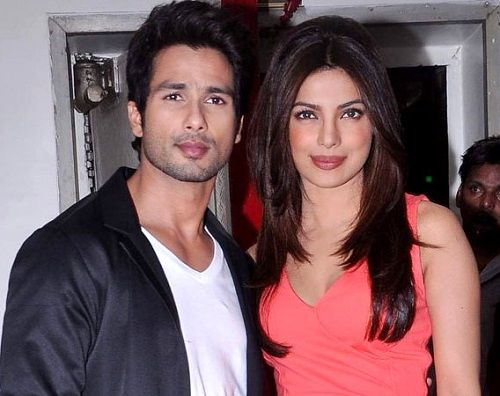 Priyanka Chopra with Shahid Kapoor