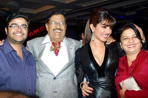 Priyanka Chopra with her parents and brother Siddharth Chopra