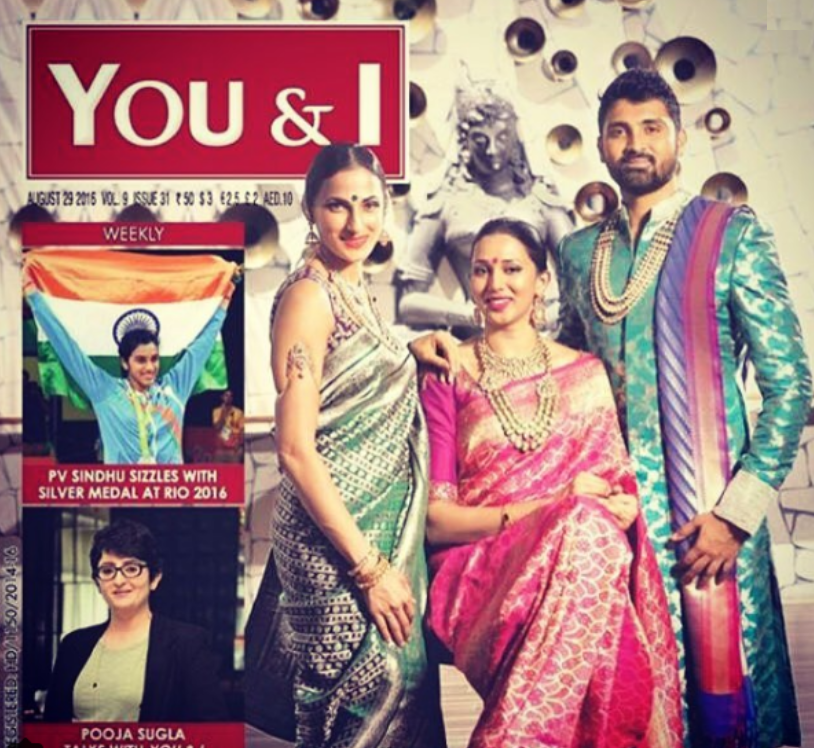 Samrat Reddy with his siblings on magazine coverpage