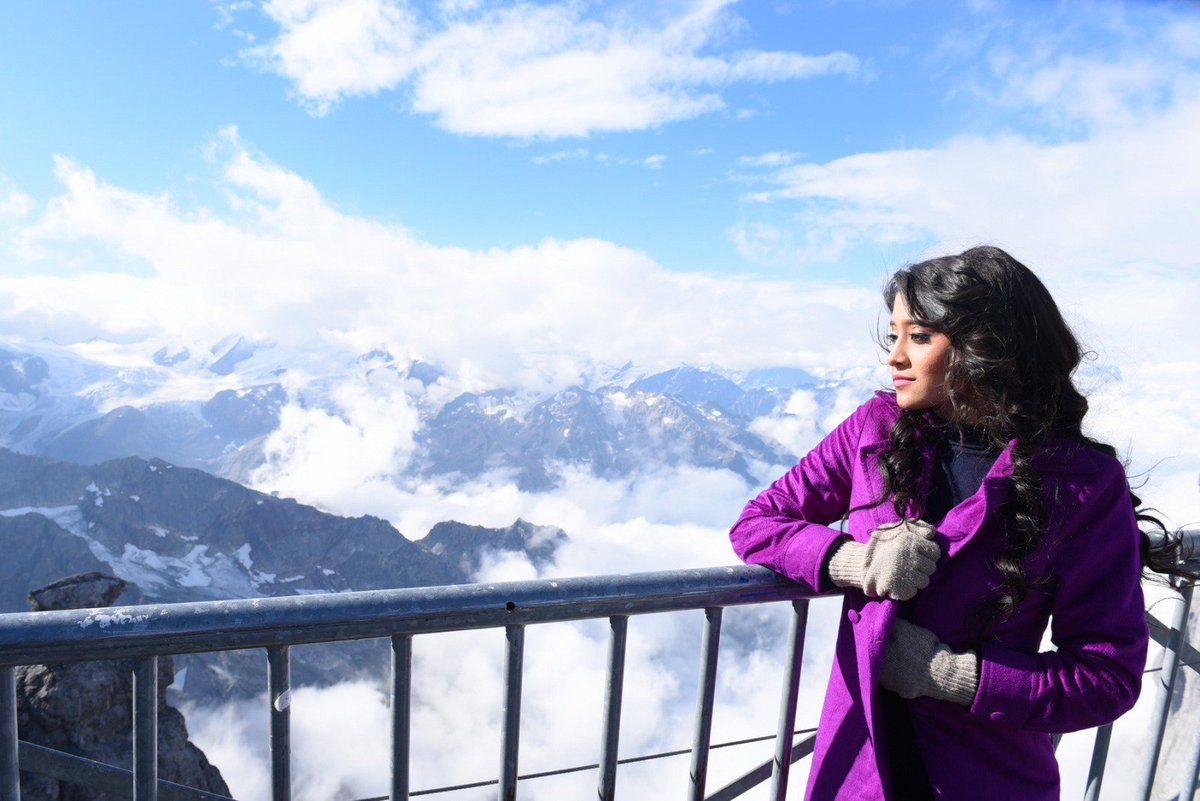 Shivangi Joshi in Switzerland