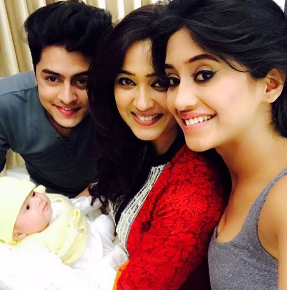 Shivangi Joshi with Shweta Tiwari and her son