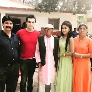 Shivangi Joshi with her parents, grandpa and Mohsin Khan