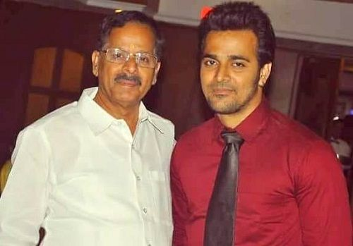 Srinish Aravind with his father Aravind Nair