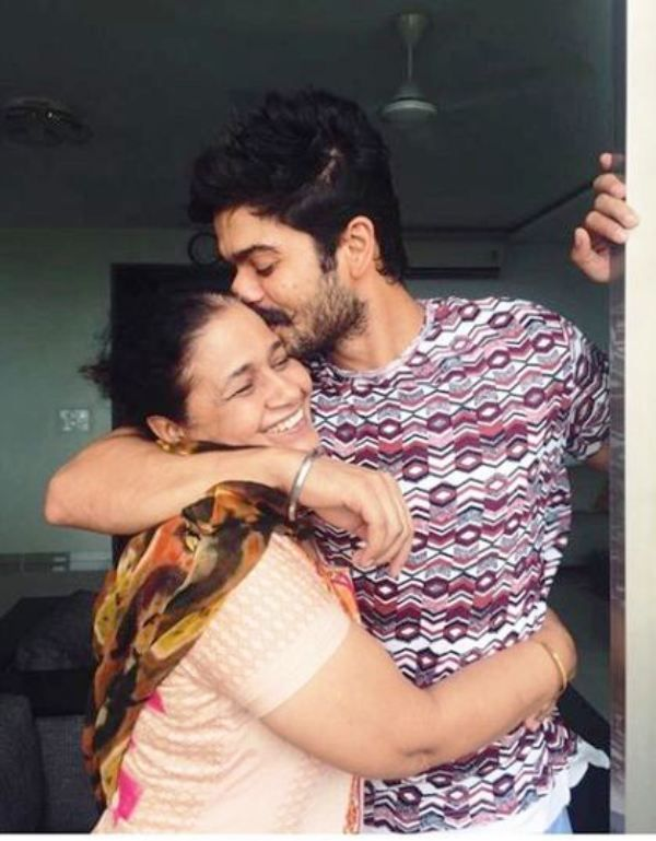 Sunny Kaushal with His Mother