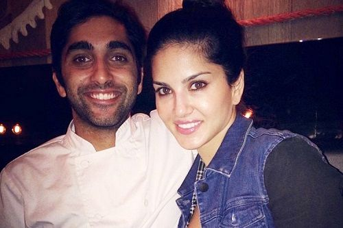 Sunny Leone with her brother Sundeep Vohra