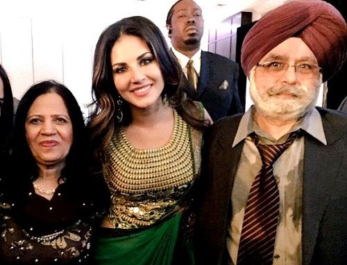 Sunny Leone with her parents